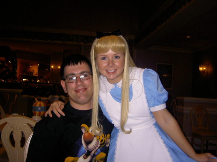 Gary with Alice in Wonderlad