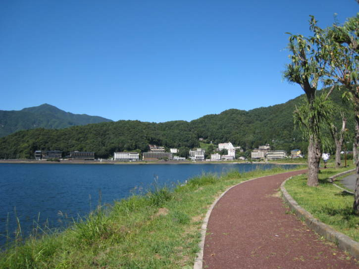 Part of the path around Lake Kawaguchi