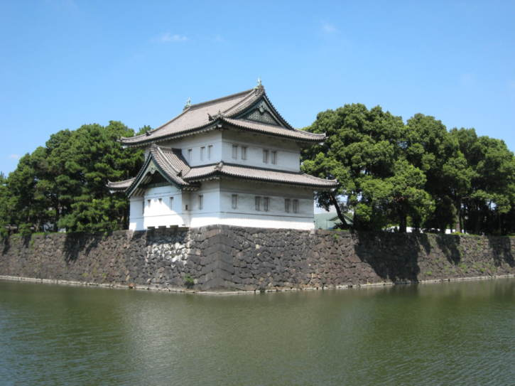 One of the gaurd houses on the Imperial Palace moat