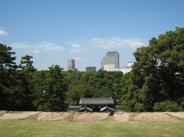 View from remains of Edo-period Castle