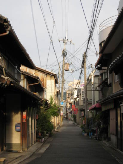 A small street near the ryokan I stayed at