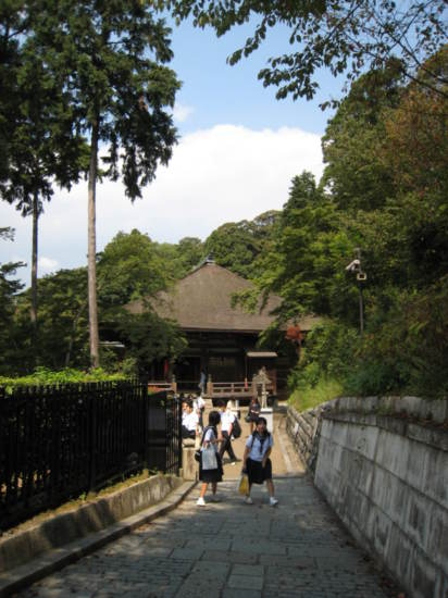 Path into the gardens of Kiyomizu-dera temple