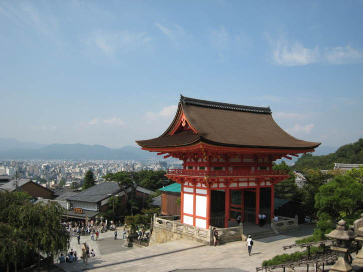 View from Kiyomizu-dera temple