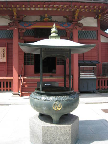 Incense burner outisde a shrine at Senso Temple