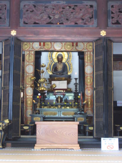 Inside a shrine at Senso Temple