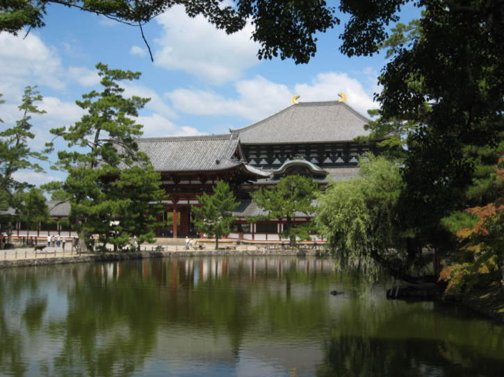 Todai Temple seen accross the pond