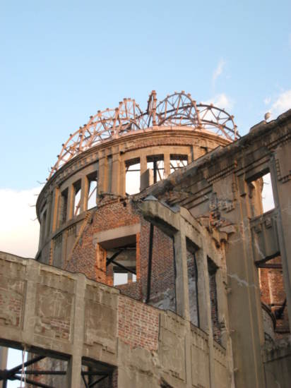 A-bomb dome up close