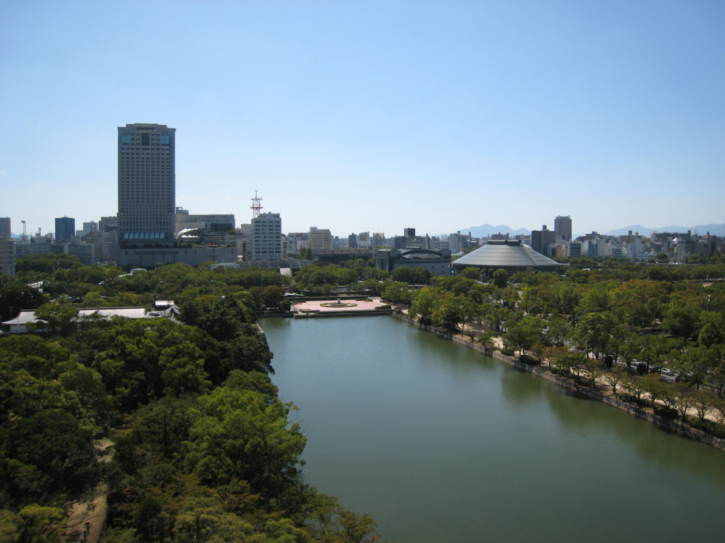 View from Hiroshima-jo