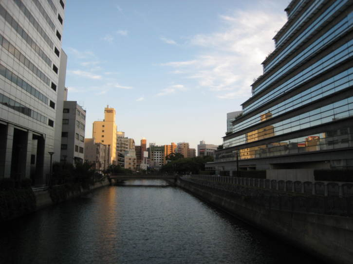 Buildings in central Fukuoka