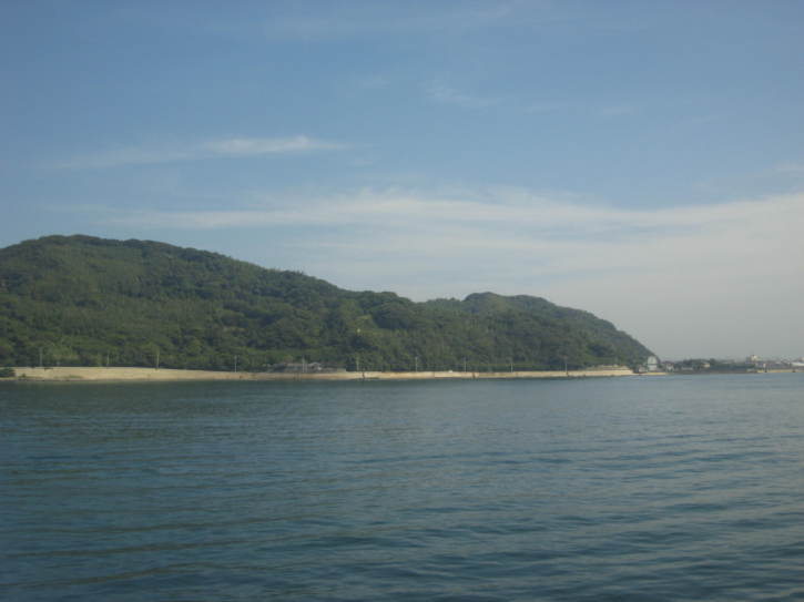 One of the larger islands near Fukuoka