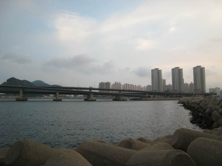 Gwang-an Bridge over the sea