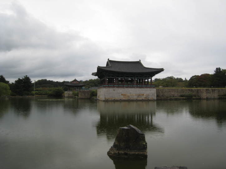 Reconstructed buildings by Anapji Pond