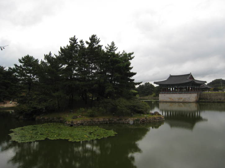 Reconstructed building by Anapji Pond