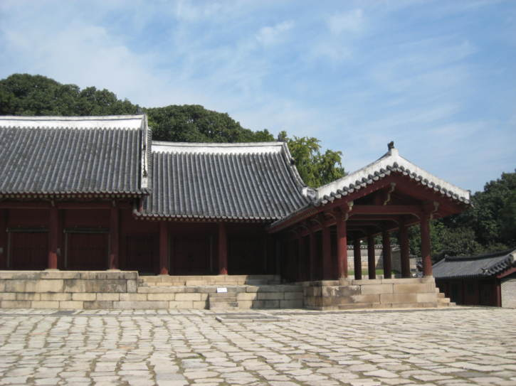 Jeongjeon hall at Jongmyu Shrine