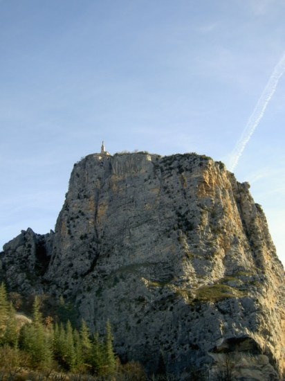 The chapel on the hill at Castellane