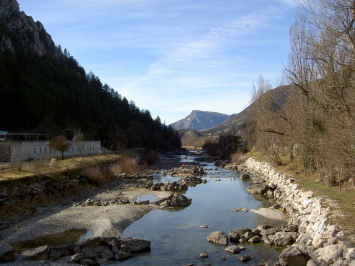 The beautiful river running by Castellane