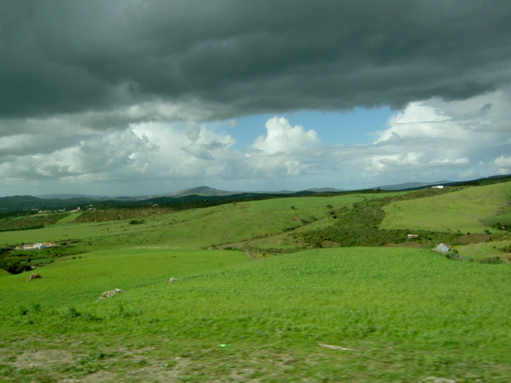 The fertile, green countryside