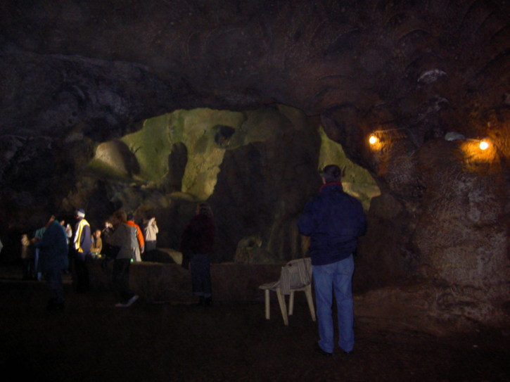 People inside the cave