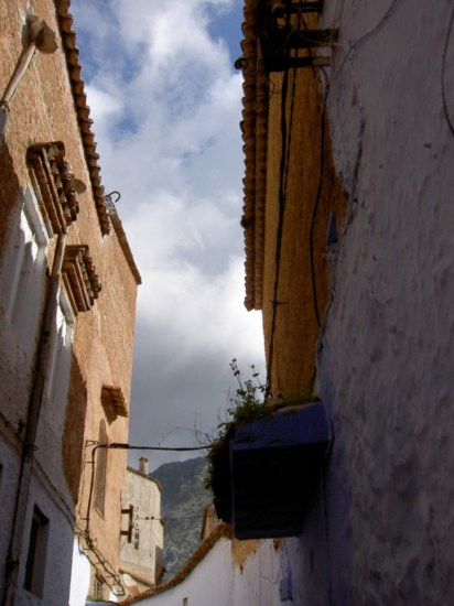 Along one of the narrow streets