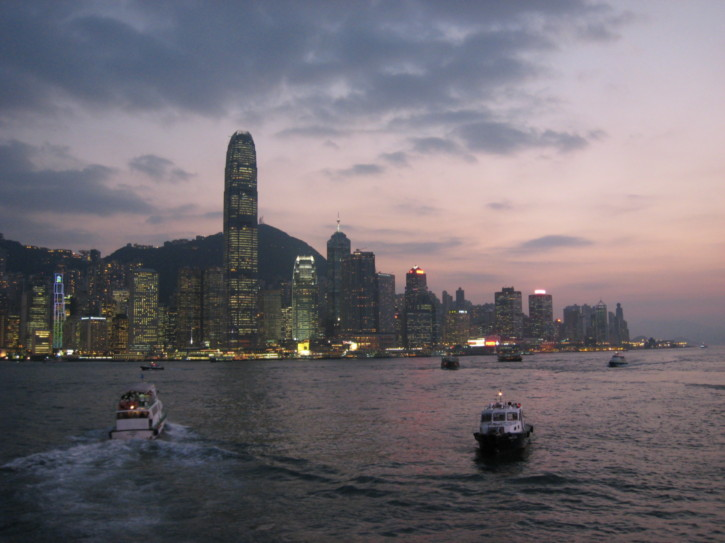 Sunset over Hong Kong Island