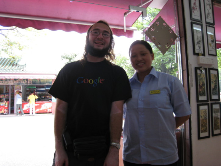 Me with Li Po Hwah, who worked at the shop