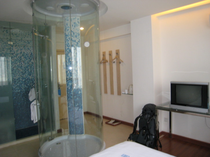 My room, with curiously located shower