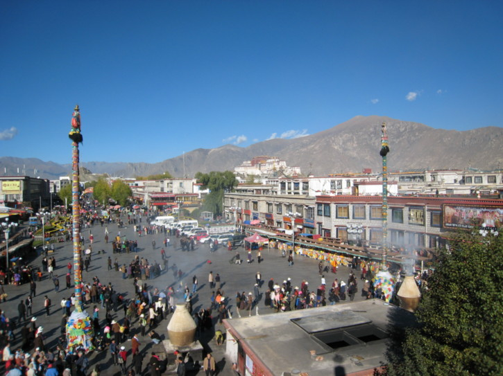 View over the square in front of the temple