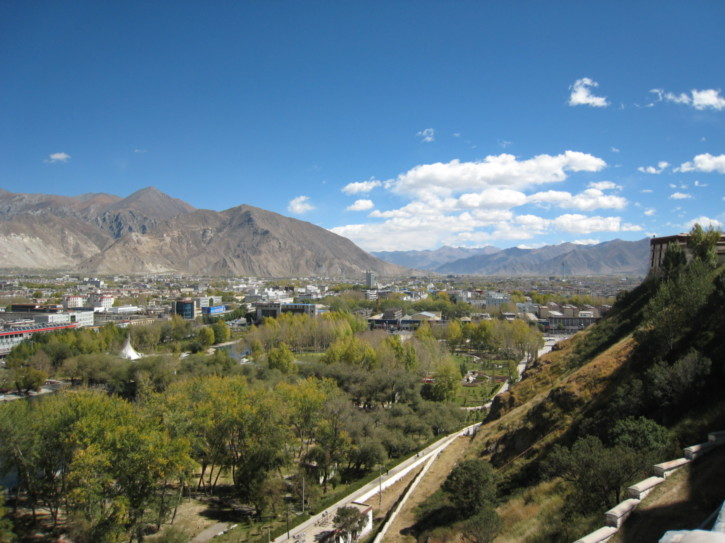 View over Lhasa