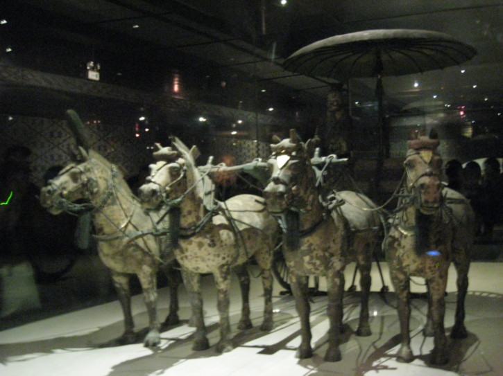 Bronze horses and chariot