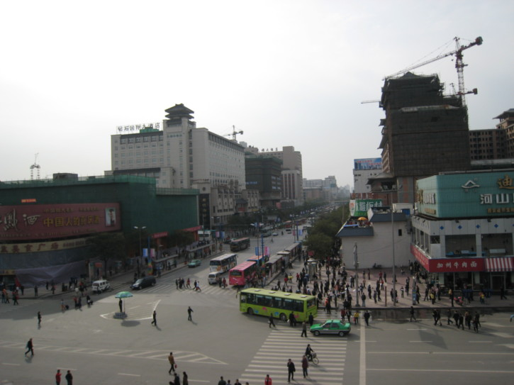 One of the main streets of Xi'an