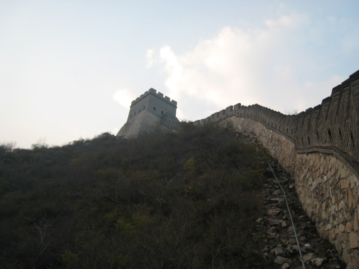 On the eastern part of the wall