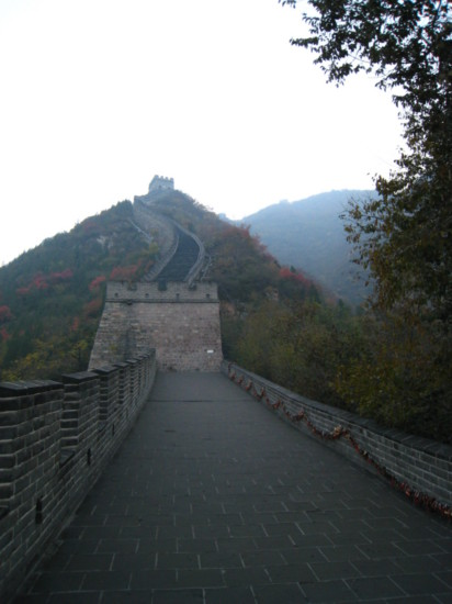 Looking back on the eastern part of the wall