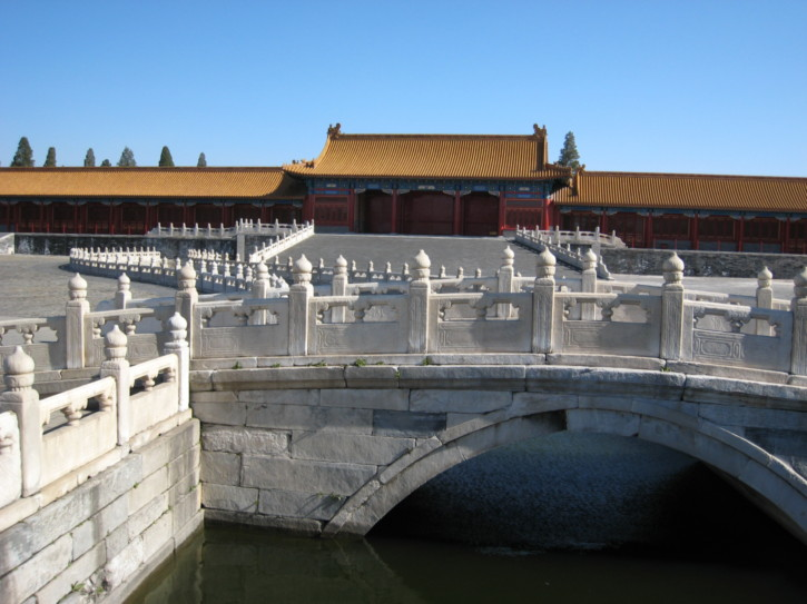 Bridge over a moat