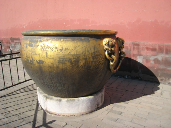 Huge bronze bowl