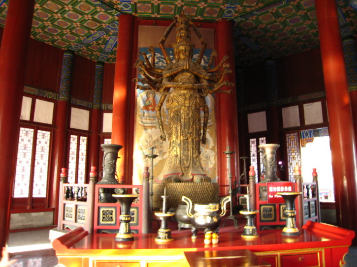 Inside the Tower Of Buddhist Incense