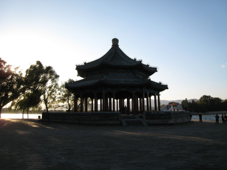 Pagoda by the bridge
