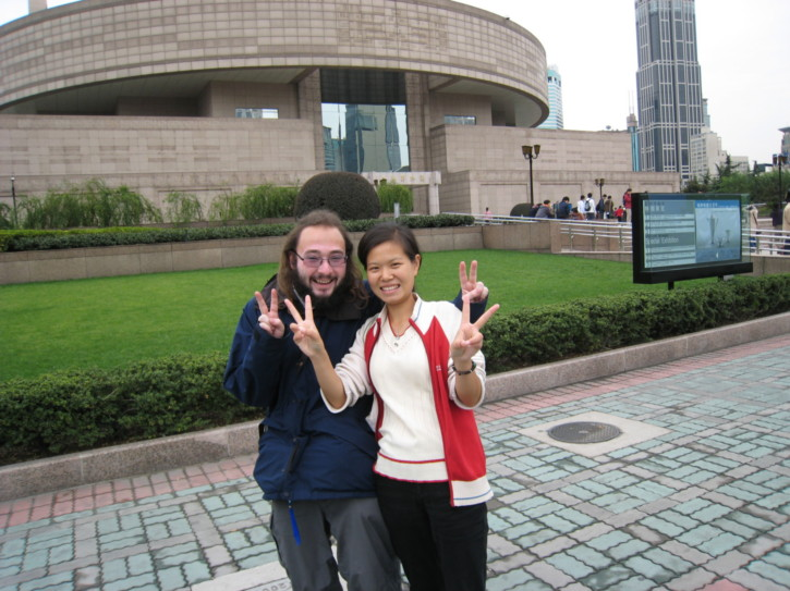 Me with a Chinese friend I made