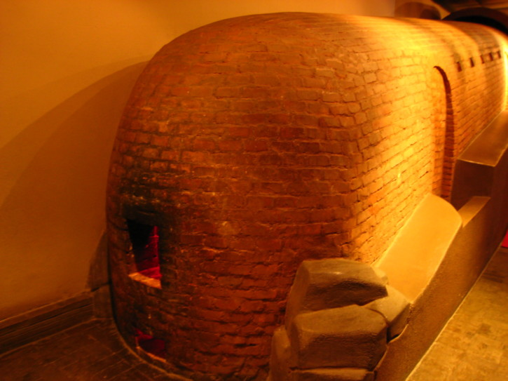 A reconstruction of a kiln in the Shanghai Museum