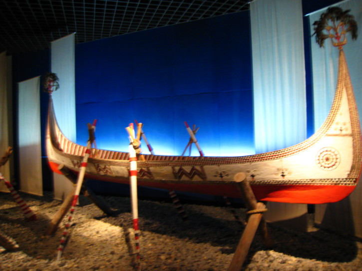 Ethnic fishing boat in the Shanghai Museum