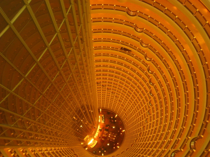 Inside the Jin Mao Building
