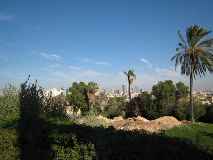 Looking towards Tel Aviv