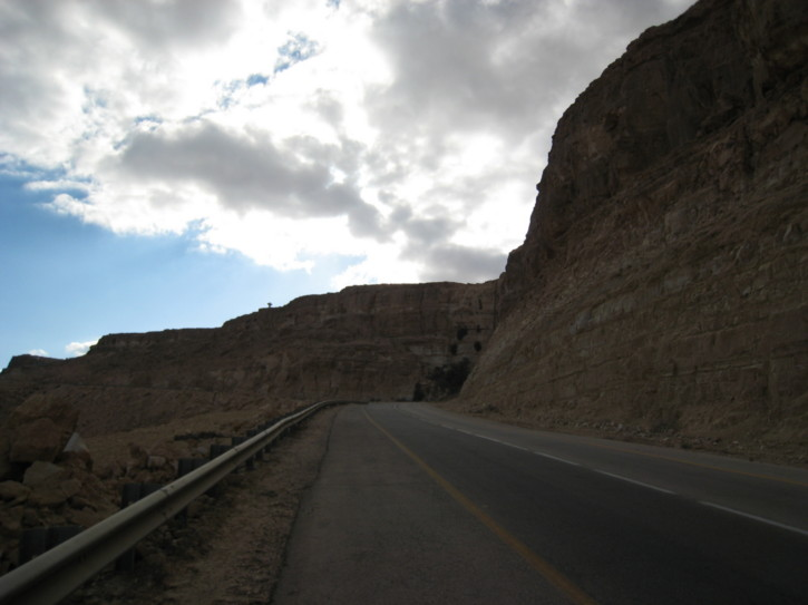 The road out of the crater