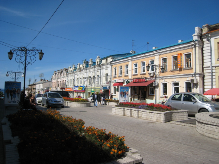 A street of century-old buildings