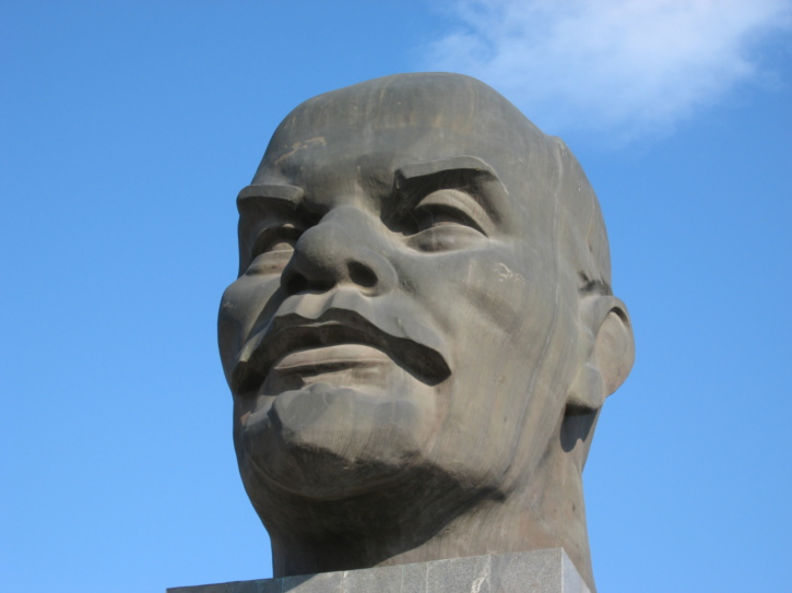 The world's largest Lenin head