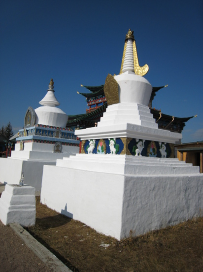 Some larger stupas