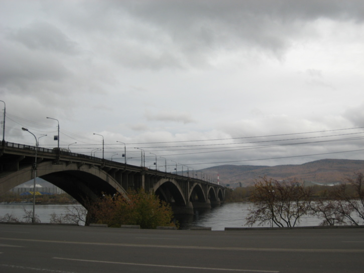 Bridge over the Yenisey river