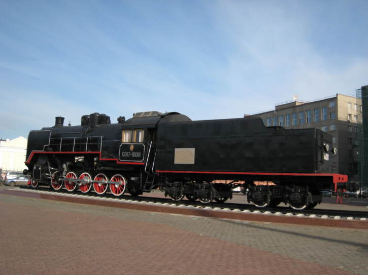 Old Trans-Siberian locomotive