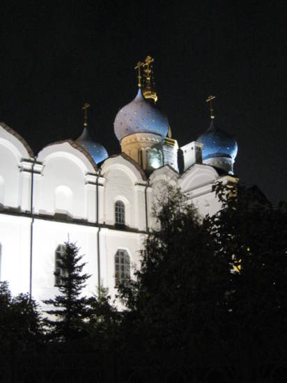 Annunciation Cathedral by night