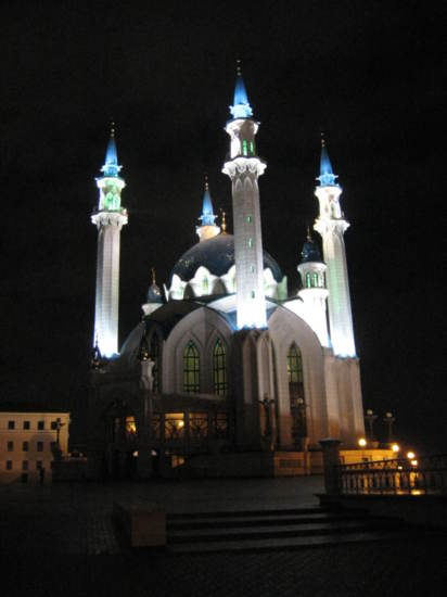 Kul Sharif Mosque by night