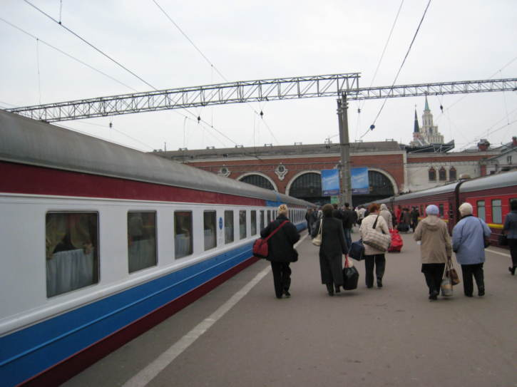 At Moscow station - the end of the journey!